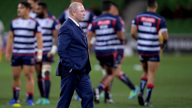 Leaving: Tony McGahan has had his last game in charge of the Rebels.