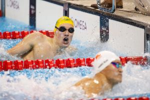 Best of enemies: Mack Horton defeats Sun Yang in the 400-metre freestyle final in Rio.