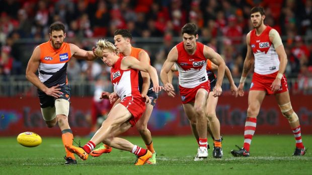Quick release: Isaac Heaney kicks ahead at Spotless Stadium.