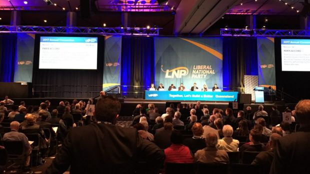 A plan to call on the federal government to pull out of the Paris Climate Accord was voted down at the LNP conference in ...