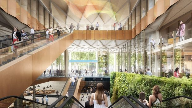 A concept image of the new Metro Rail stations.