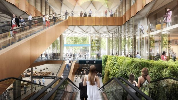 A concept image of one of the new Metro Rail stations.