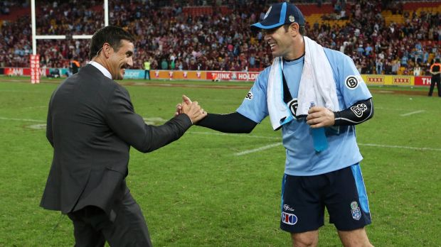 Dream team: Andrew Johns has said he would consider a NSW assistant or consultancy role, possibly with Brad Fittler, if ...