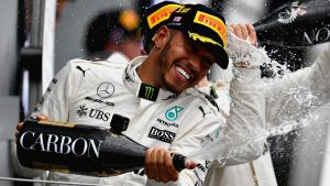 It was a record fifth British Grand Prix for Lewis Hamilton.