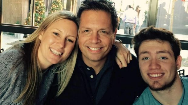 Justine Damond (left) with her fiance Don and Don's son, Zach. She fell in love with Don after listing the attributes of ...