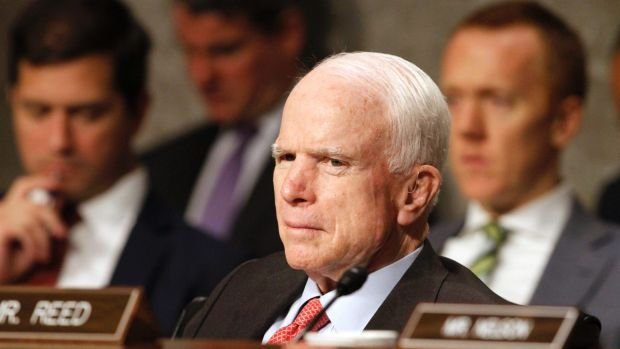 Republican senator John McCain is an avid proponent of further sanctions against Moscow.