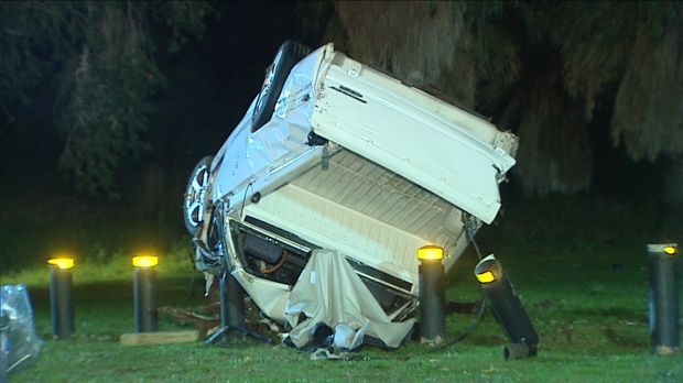 A man has died after his car rolled over near Yanchep.