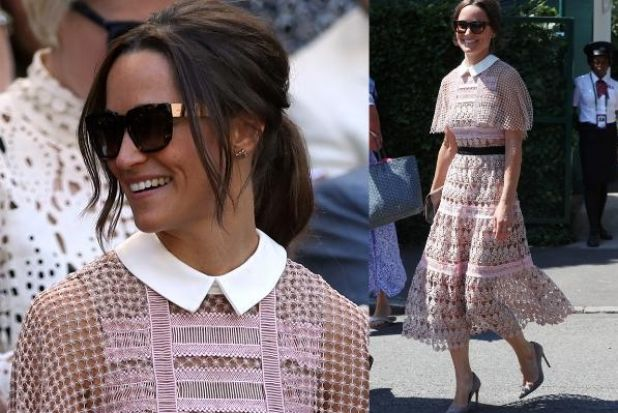 It's game, set and match (sorry) to Pippa Matthews née Middleton, who wore this lacy midi from It-girl label ...