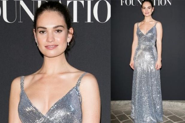 Sometimes simple really is the best, as Lily James proves in this sparkling Burberry sheath. The perfectly tailored and ...