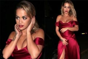 OK, we don't have the best photos of Rita Ora in Vivienne Westwood Couture, but it's dry July (when A-listers are all ...