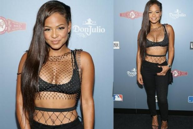 On the style menu tonight is catch of the day Christina Milian, who's got more netting on board than a John West boat. ...