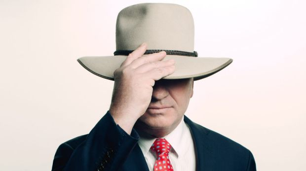 Barnaby Joyce as he appears in the new issue of GQ magazine.