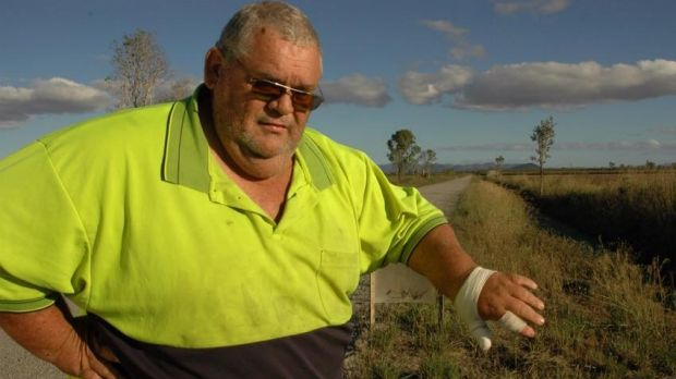 Cane farm worker Daryl Bell was attacked by the 1.4 metre crocodile on Sunday.