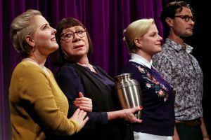 Briallen Clarke, Sandy Gore, Helen Dallimore and Garth Holcombe in The Plant.