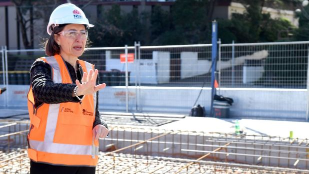 "Premier Gladys Berejiklian says pedestrian traffic on George Street will ""go through the roof"" once the light rail is ..."