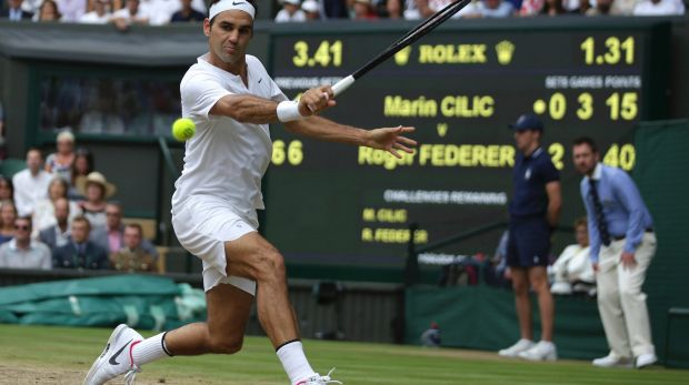 Roger Federer had doubts about a straight sets win.