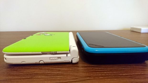 The New 2DS XL is around the same size as previous XL systems, but it's a lot slicker looking.