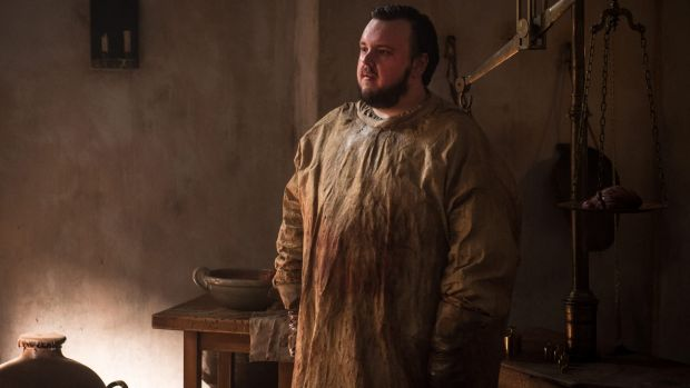 Samwell Tarly's (John Bradley) job on Game of Thrones is repugnant.