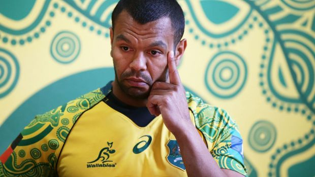 Kurtley Beale, a man from the Darug tribe in Sydney's west, had to pause to compose himself at the unveiling.