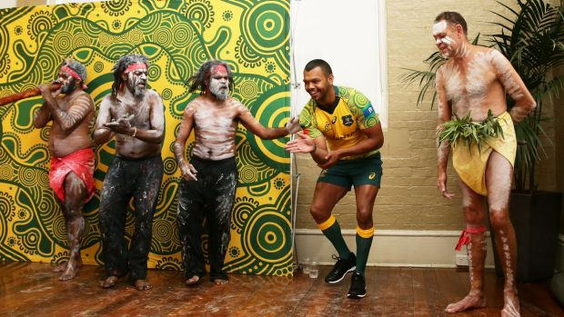 Kurtley Beale took part in a solo impromptu dance at the event.