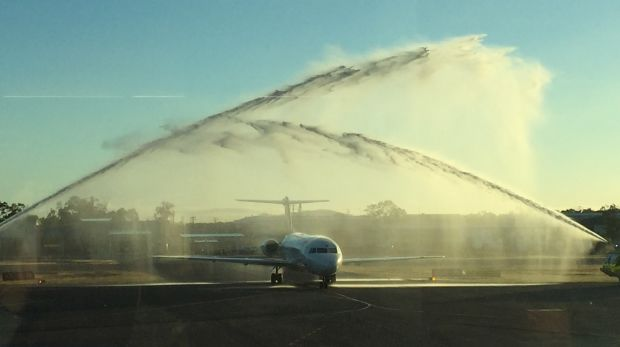 Alliance Airlines touches down in Gladstone.