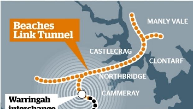 The Beaches Link Tunnel.