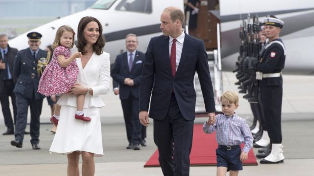 Britain's young royals begin tour of Poland and Germany
