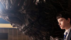 Conor (Lewis MacDougall) and the monster (voiced by Liam Neeson) in A Monster Calls.