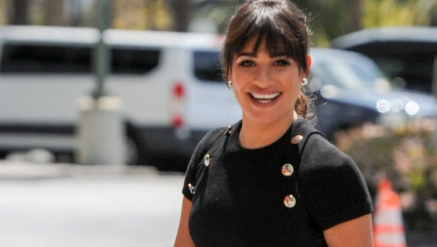 Cute as a button ... Lea Michele in Michael Kors.