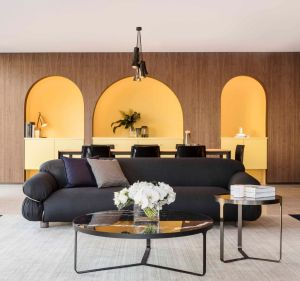 Styling tip:There's a sense of theatre in the way the StylecraftHOME showroom's arches frame the furniture settings, ...