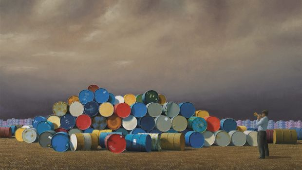 Jeffrey Smart's The Oil Drums.
