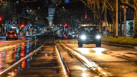 Melbourne was saturated in rain on Wednesday morning.