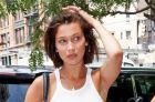 Bella Hadid deubted a new bob.