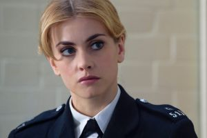 Stefanie Martini as Jane Tennison, the character made famous by Helen Mirren, in Prime Suspect 1973.