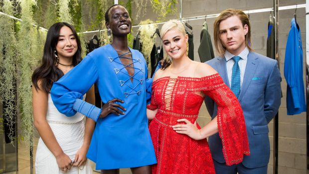 The faces of Melbourne Fashion Week (left to right) Kristy Wu, Ajak Deng, Stefania Ferrario and Thomas Davenport.