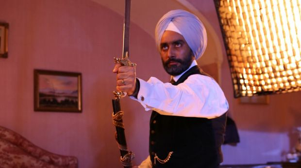 Satinder Sartaaj as Duleep Singh has some incongruous action-hero moments.