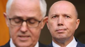 Prime Minister Malcolm Turnbull and Immigration Minister Peter Dutton.