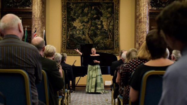 Soprano Deborah Cheetham performs at Australia House in London
