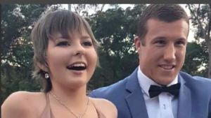 Trent Hodkinson, of the Newcastle Knights, takes terminally ill schoolgirl Hannah Rye to her school formal.