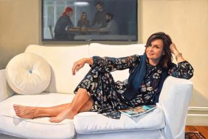 Peter Smeeth's portrait of Today show host Lisa Wilkinson.