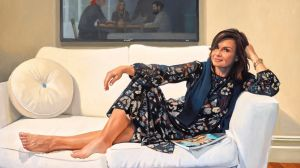 Peter Smeeth's portrait of Today show host Lisa Wilkinson (detail) won this year's packing room prize.