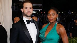 Serena Williams with her fiance Reddit co-founder Alexis Ohanian at the Met Gala earlier this year (OK fine that's also ...