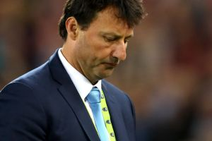 BRISBANE, AUSTRALIA - JULY 12: Blues coach Laurie Daley looks dejected after game three of the State Of Origin series ...