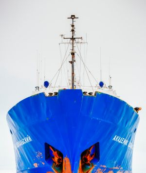 EDFRC2 The Akademik Shokalskiy beset by pack ice. EMBARGOED FOR GOOD WEEKEND, JULY 22/17 ISSUE. cr: Alamy (supplied ...