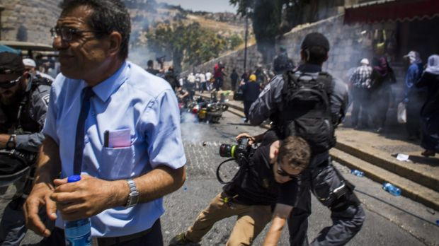 Clashes, tensions flare at sacred site in Jerusalem