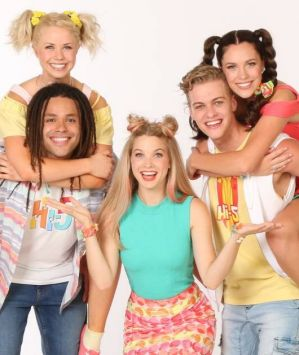 Hi-5 (left top to right): Shay, Joe, Bailey, Lachie and Courtney.