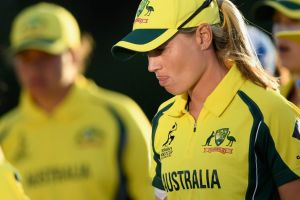 Disappointed: Australia captain Meg Lanning.