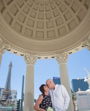 The couple were married at Caesar's Palace in July.