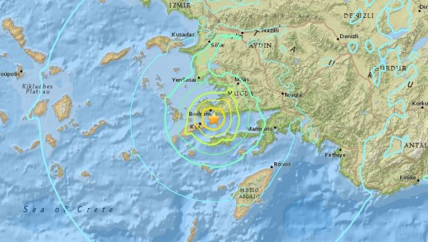 THe shallow quake hit off the coast of Turkey on Friday morning.