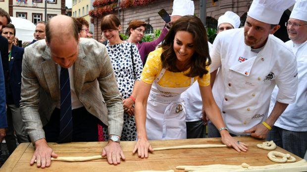 From pretzel making to boat racing: The Royals continue their tour of Germany